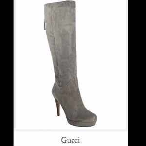 Gucci Suede Platform boot with Bamboo Tassel